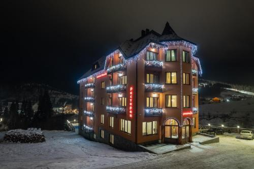 Alpin Hotel during the winter