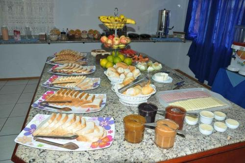 Breakfast options available to guests at Hotel Blue Star II