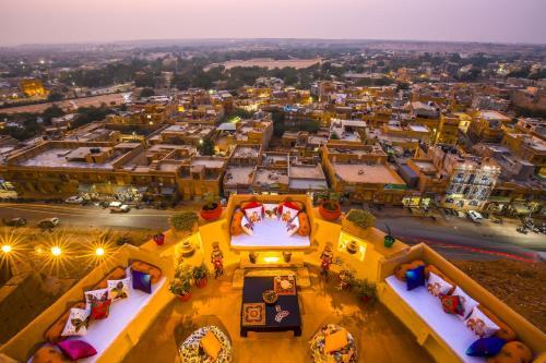 A bird's-eye view of Zostel Jaisalmer