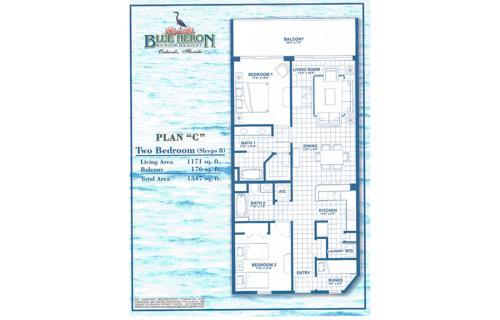 The floor plan of Penthouse Close to Disney area and Malls water view