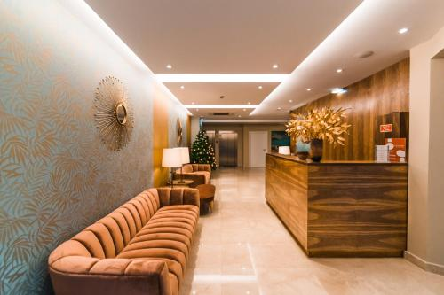 The lobby or reception area at Rossio Boutique Hotel