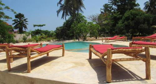 The swimming pool at or close to Panga Chumvi Beach Resort