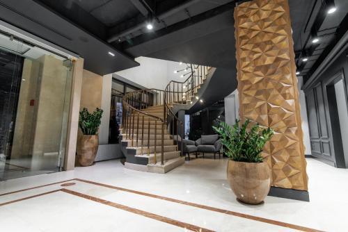 El vestíbulo o zona de recepción de Riviera House