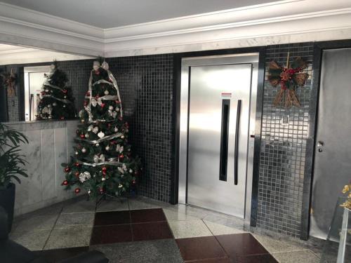 A bathroom at Apartamento de Luxo no melhor bairro
