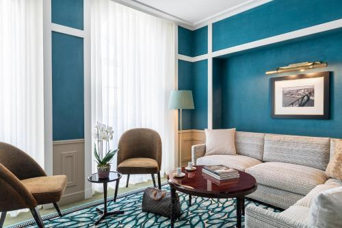 Uma área de estar em Maison Albar Hotels Le Monumental Palace