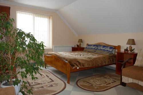 Кровать или кровати в номере Лелека