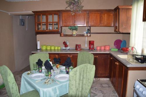 A kitchen or kitchenette at BlazingFireGuesthouse
