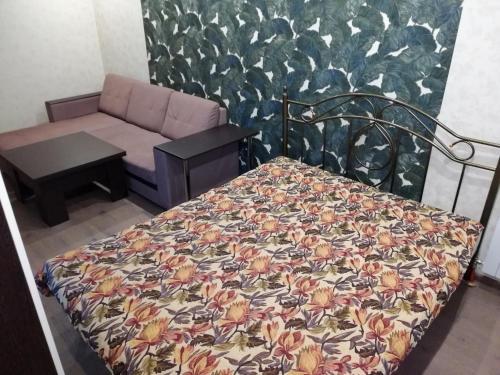 Кровать или кровати в номере 1-комнатная в Новом доме!