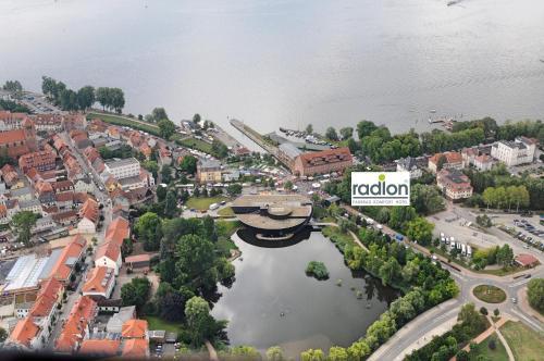 Blick auf radlon Fahrrad-Komfort-Hotel aus der Vogelperspektive
