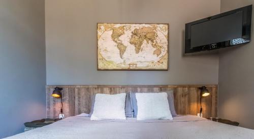 Een bed of bedden in een kamer bij De Kamphoeve