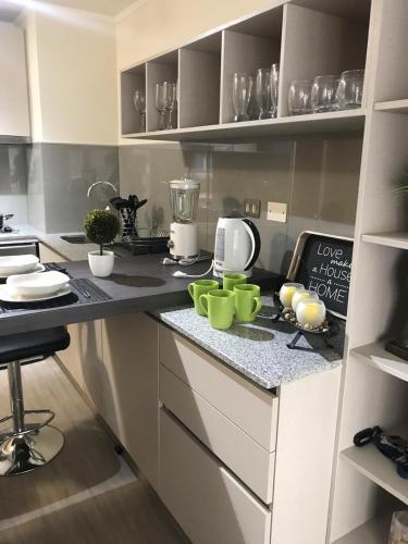 Una cocina o zona de cocina en Live San Martín