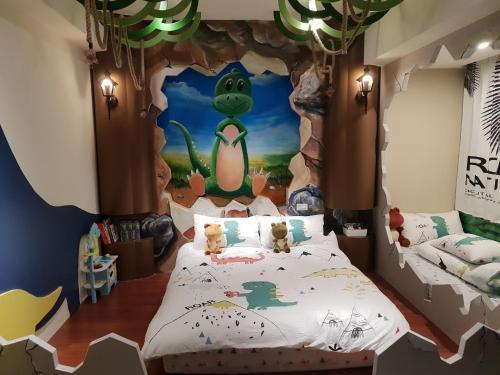 童伴親子民宿房間的床