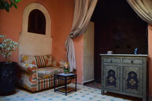 A seating area at Riad Arjan