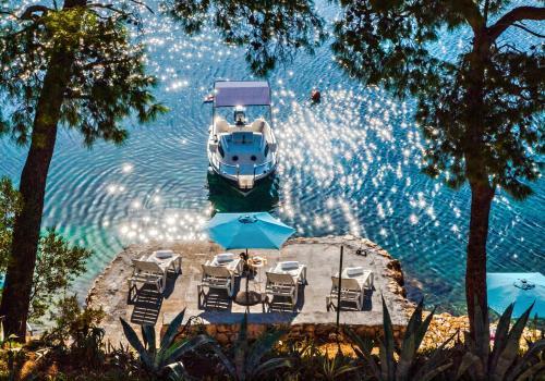 Pohľad z vtáčej perspektívy na ubytovanie Apartments Velo Lago