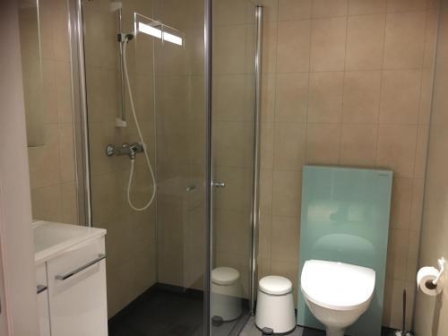 A bathroom at Sentrumsgården Motell AS