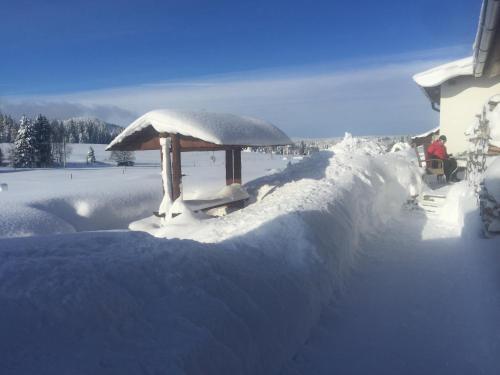 Ubytování u Vydřího mostu v zimě