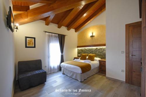Cama o camas de una habitación en Señorío de los Fonseca