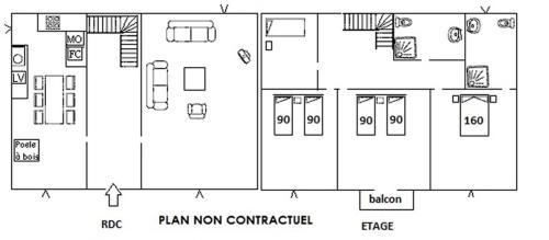 The floor plan of Maison Lajus