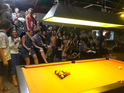 A pool table at Cable Beach Backpackers