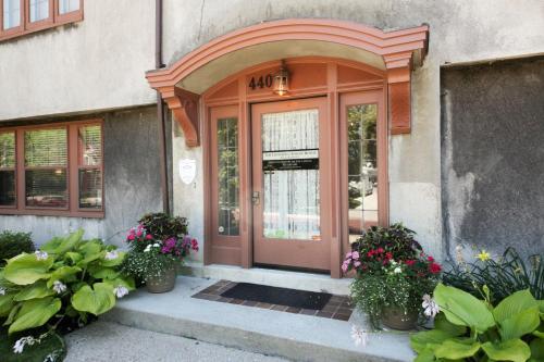The facade or entrance of Leonard at Logan House