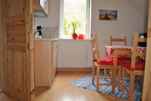 Küche/Küchenzeile in der Unterkunft Waldhaus Crottendorf