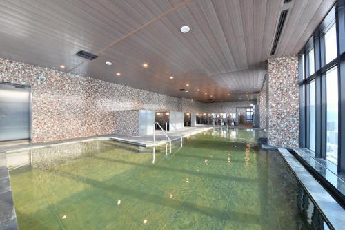 The swimming pool at or near Hakodate Kokusai Hotel