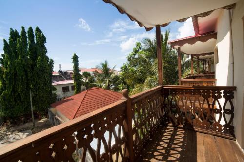 A balcony or terrace at Antonio Garden Hotel