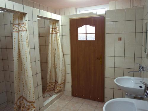 A bathroom at Hostel Hutnik