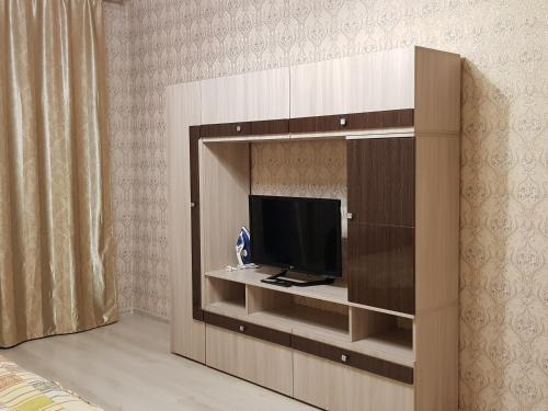 Телевизор и/или развлекательный центр в Улучшенные апартаменты на Ауре