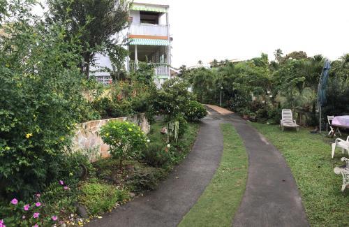 A garden outside Villa des îles