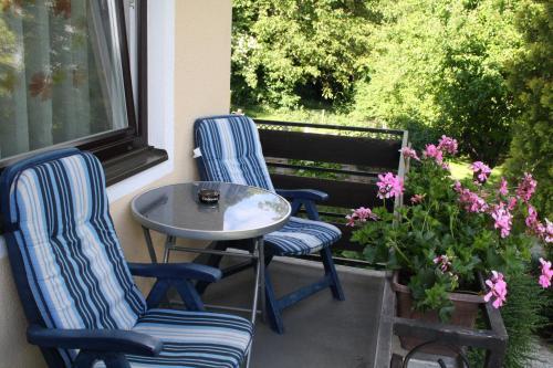 Ein Balkon oder eine Terrasse in der Unterkunft Pension Wolf