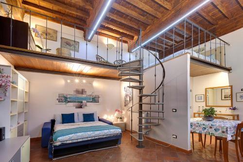 Cama o camas de una habitación en Dante Pitti Palace
