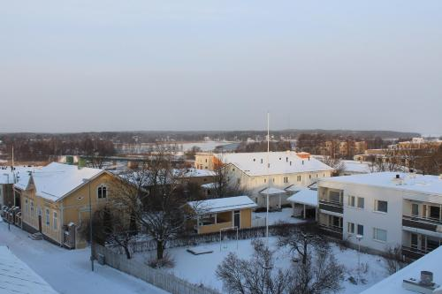 Slottsbädden during the winter