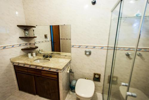 A bathroom at Bosque Oriri