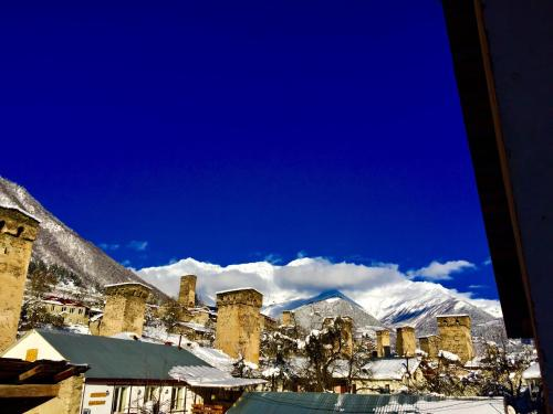 Boutique hotel mestia during the winter
