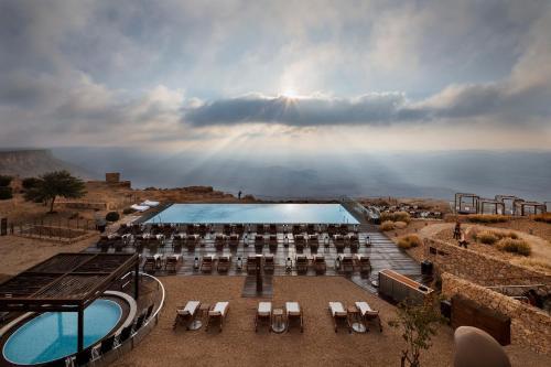 מבט מלמעלה על מלון בראשית מקבוצת מלונות היוקרה של ישרוטל