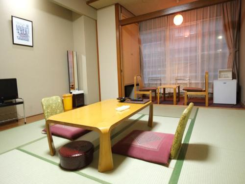 A seating area at Hotel Harumoto
