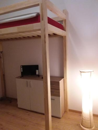 A television and/or entertainment center at Living in the Box