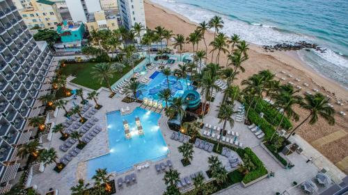 A bird's-eye view of San Juan Marriott Resort and Stellaris Casino