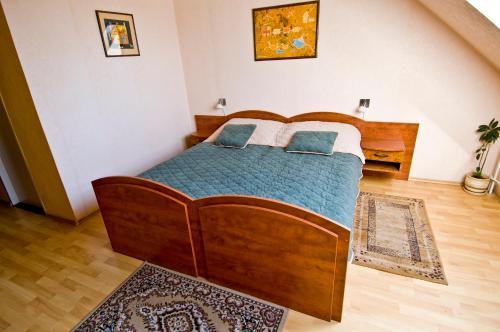 Postel nebo postele na pokoji v ubytování Hotel Relax u Drsů