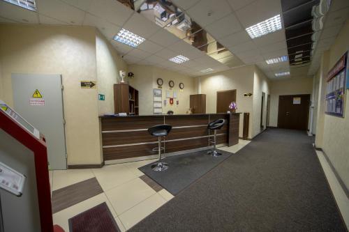 The lobby or reception area at CSKA Hotel