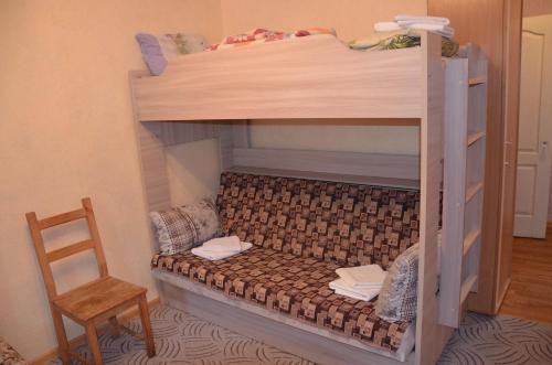 Двухъярусная кровать или двухъярусные кровати в номере Парк-отель Озеро Великое