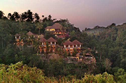 A bird's-eye view of Anahata Villas and Spa Resort
