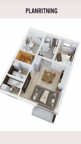 The floor plan of Torglägenheterna 4