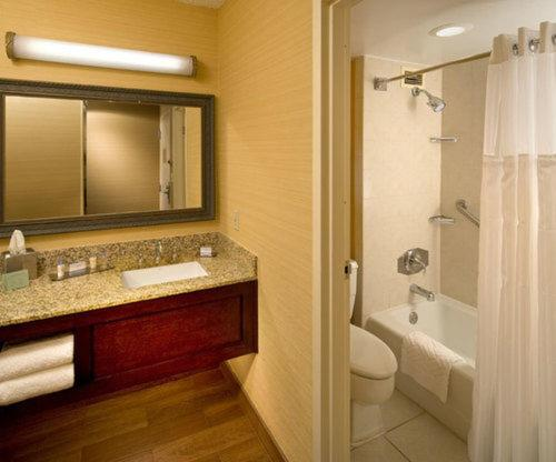 A bathroom at The Park Vista - A DoubleTree by Hilton Hotel - Gatlinburg