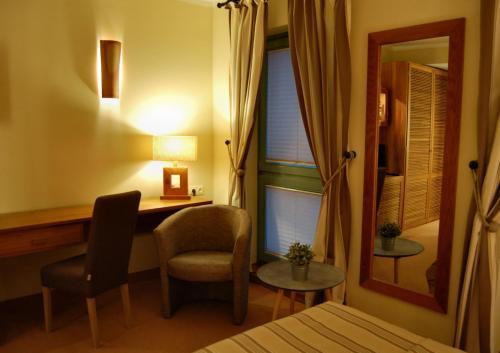Ein Sitzbereich in der Unterkunft Albergo Hotel