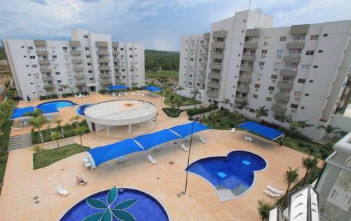 A view of the pool at Apartamento Suíte em Caldas Novas or nearby