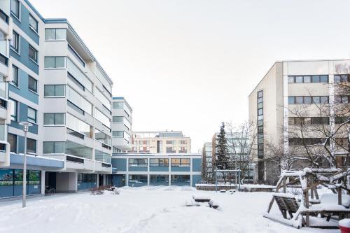 Helsinki downtown Pasila talvella