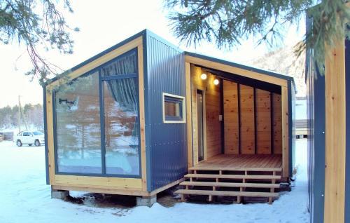 Eco Mini-Hotel Alteria during the winter