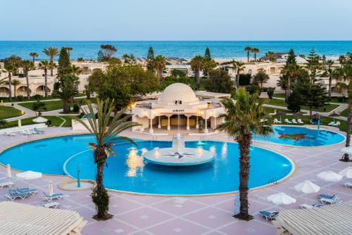 A view of the pool at Le Royal Hammamet or nearby